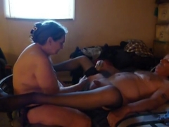 prostate fucking  husbands ass then milking his prostate