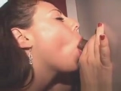 Brunette Sucking Black Cock With Facial At Glory Hole