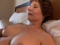 plump aged copulates in hotel room