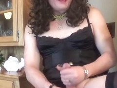 Married SIssy Crossdresser Masturbating