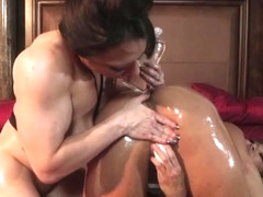 Ava Devine gets oiled up with Brandi Mae - AvaDevine