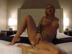 Kleio Valentien is horny and masturbates before going to dance at the club