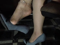 Sexy legs dangling shoeplay fetish footfetish
