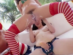 Casey Calvert, Hope Howell, Maddy Oreilly xmas rimmers