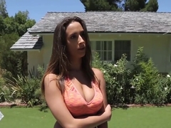 Ashley Adams Her Coach Cock Inside Pussy