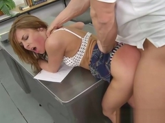 Sheena Shaw has her teachers attention