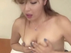 Chieri Matsunaga loves it deep in her hairy vagina