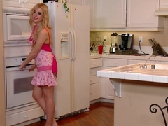 Charlyse Bella masturbates in the kitchen