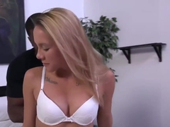 Hollie Mack's first interracial scene