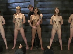 Group Of Female Slaves Getting Training
