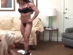 ebony muscle dominates white chick