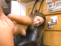 Brunette Beauty Riding Dick And Doggystyled In Pawn Shop