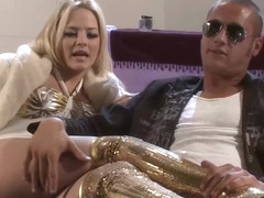 Amazing blonde in golden boots, Alexis Texas fucked her ex lover, just for the fun of it
