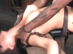 Busty Redhead Sub Pounded By Black Maledom