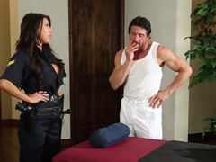Bigtitted Police Lady Fucked During Massage