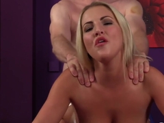 This sexy blonde loves sex and semen