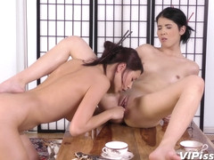 Lady Dee and Paula Shy play with piss