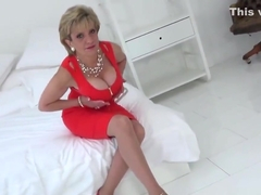 Unfaithful english milf gill ellis presents her massive naturals