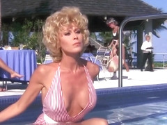 leslie easterbrook - tits and pussy in see through