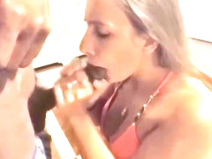 Gorgeous girlfriends first time with a black dude