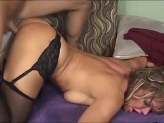 A Natural Bodied Blonde Gets Manhandled In Bed