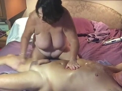 Wife giving me a great massage with a happy ending