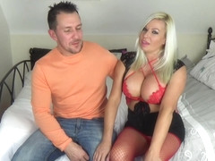 Smashing blonde milf, Michelle Thorne likes to get fucked hard, in a doggy- style position