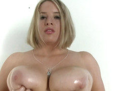 This woman has huge knockers to use