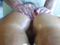 Audrey irons getting a hot pussy massage