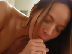 Hotwife Jessica sucks cock and talks dirty