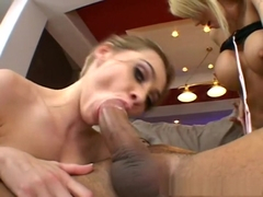 Horny pornstars Brooke Haven and Cindy Sterling in exotic threesomes, blonde adult clip
