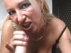 Mature with pierced nipples and pussy POV fuck