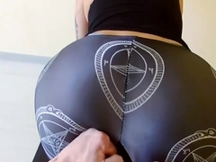 Roughly fucked in ragged yoga pants and cumshot in her mouth