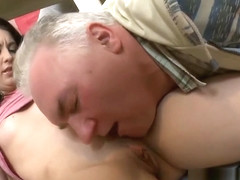 Dissolute woman fucks with penis