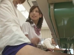 Horny Japanese chick Miyuki Yokoyama in Incredible Public, Handjob JAV movie