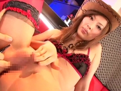Crazy Japanese girl Erika Kirihara, Haruka Sanada, Akari Satsuki in Incredible Shaved, Stockings J.