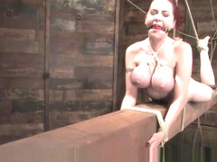 Berlin the ultimate bondage slut breast suspended whipped