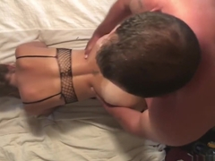 Real homemade! Wifes sis loves me! Fucked in fishnet bodystocking! Pawg POV