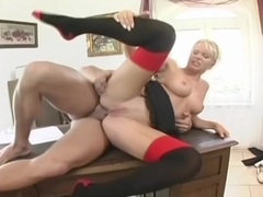 Tight Blonde Kathy Anderson Gets Buttfucked For The Job