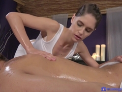 Alex Moretti & Lana Seymour in Oiled Masseuse Works Stiff Cock - MassageRooms