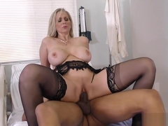 Dr MILF Julia Ann treats young black boy