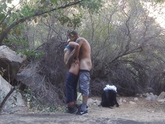 outdoor quickie on a hike