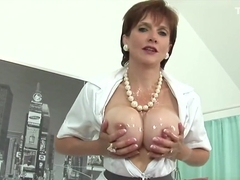 Cheating english milf lady sonia pops out her big puppies