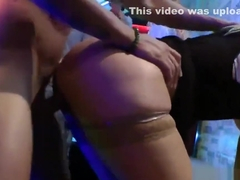 Flirty cuties get totally wild and nude at hardcore party