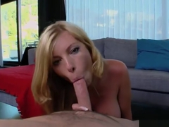 Ambrosial busty Donna Bell is making an amazing BJ
