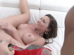 Julie Skyhigh & Kimber Delice anal DP mini orgy with 3 guys