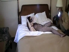Masked White Chick Interracial Porn Video