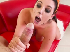 Angel White squirting while assfucked wild!
