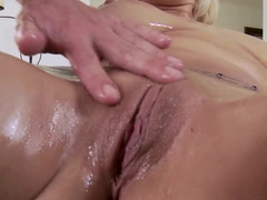 Lylith Lavey having her pussy and mouth occupied with a hard cock