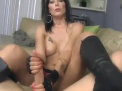 Zoey Holloway teasing with her boots